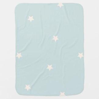 青いベビーブランケットのシンプルの星 ベビー ブランケット