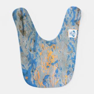青いベビー用ビブの抽象芸術 ベビービブ