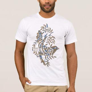 青いベージュ鳥のティー Tシャツ