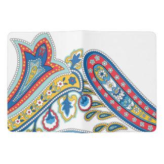 青いペイズリーのカスタムなノート-特大 エクストララージMoleskineノートブック