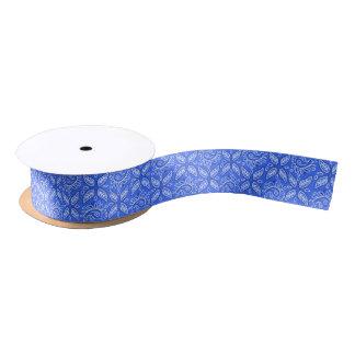 青いペイズリーパターンギフトのリボン サテンリボン