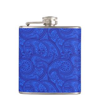 青いペイズリー フラスク