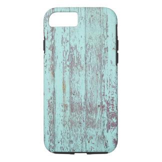 青いペンキの古い木の壁 iPhone 8/7ケース