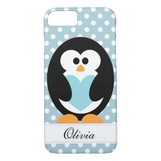 青いペンギン愛 iPhone 8/7ケース