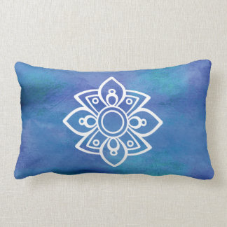 青いボヘミアのデザインの枕 ランバークッション