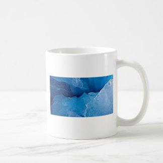 青いボーダーテンプレートの陰 コーヒーマグカップ