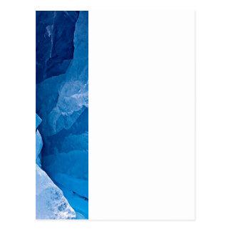青いボーダーテンプレートの陰 ポストカード