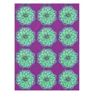 青いポインセチアのデザイン テーブルクロス