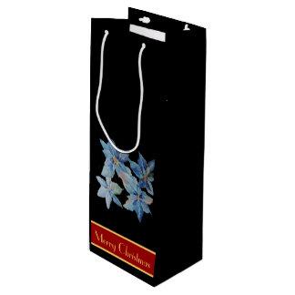 青いポインセチア ワインギフトバッグ
