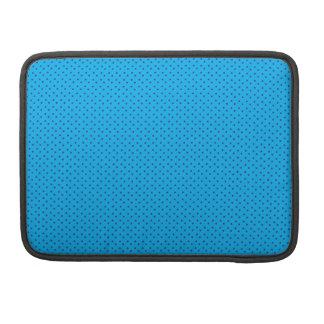 青いポルカパターン袖 MacBook PROスリーブ