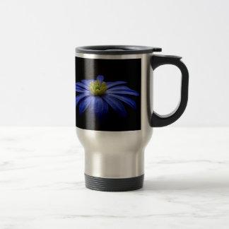 青いマクロ花 トラベルマグ
