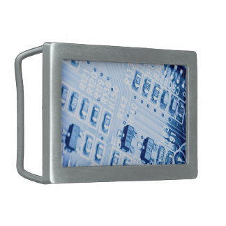 青いマザーボードによって作成されるパターン 長方形ベルトバックル