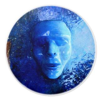 青いマスク セラミックノブ