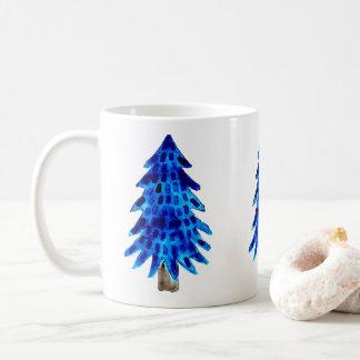 青いマツ コーヒーマグカップ