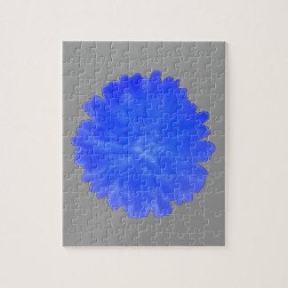 青いマリーゴールドのパズル ジグソーパズル