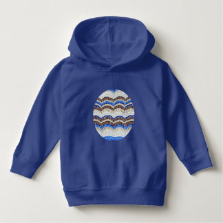 青いモザイクとの幼児のプルオーバーのフード付きスウェットシャツ パーカ