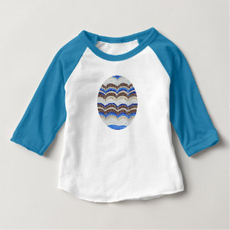 青いモザイクベビーのRaglanのTシャツ ベビーTシャツ