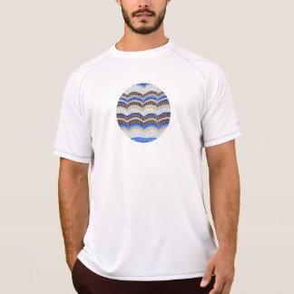 青いモザイク人の二重乾燥したTシャツ Tシャツ