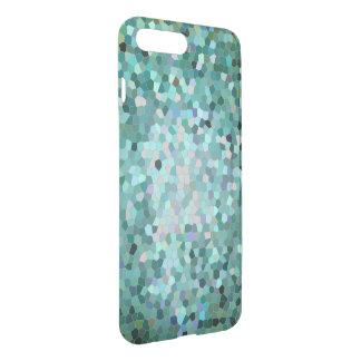 青いモザイク携帯電話の箱 iPhone 8 PLUS/7 PLUS ケース