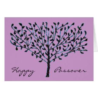 青いモザイク木の過ぎ越しの祝いカード カード
