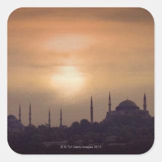青いモスクおよびHagia Sophiaトルコ、イスタンブール スクエアシール