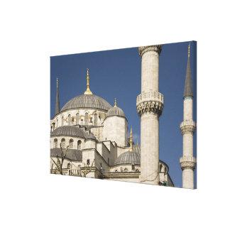 青いモスク、イスタンブール、トルコ キャンバスプリント