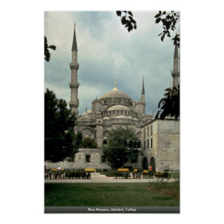 青いモスク、イスタンブール、トルコ ポスター