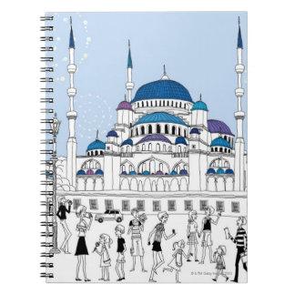 青いモスク ノートブック