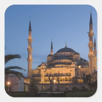 青いモスク、Sultanhamet区域、イスタンブール、トルコ スクエアシール