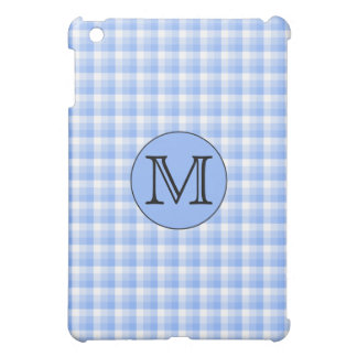 青いモノグラムの点検Pern。 カスタムな手紙 iPad Miniカバー