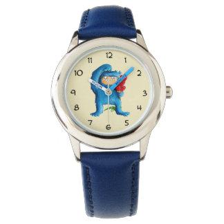 青いモンスターのアイスクリーム 腕時計