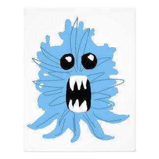 青いモンスターの包装紙 レターヘッド