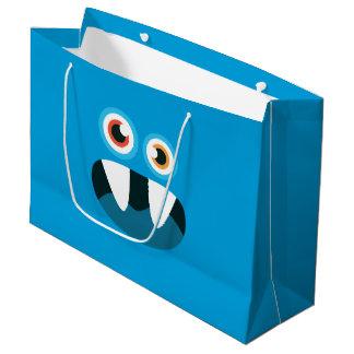 青いモンスター ラージペーパーバッグ