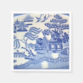 青いヤナギのカクテルのナプキンは誇りを持ったに作ります スタンダードカクテルナプキン