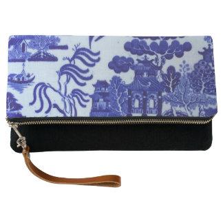 青いヤナギのクラッチの財布 クラッチバッグ