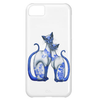 青いヤナギのシャム猫 iPhone5Cケース