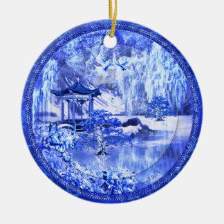 """""""青いヤナギの世界""""の陶磁器のオーナメント、元の芸術 セラミックオーナメント"""