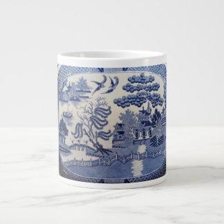 青いヤナギの大きいマグ ジャンボコーヒーマグカップ