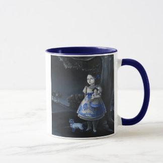 青いヤナギ マグカップ