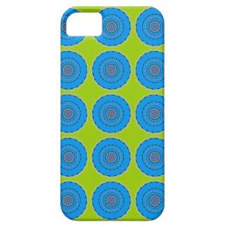 青いユリの曼荼羅 iPhone SE/5/5s ケース