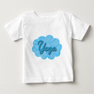 青いヨガの華麗さのデザイン ベビーTシャツ