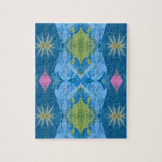 青いライムのスターバストの種族パターン ジグソーパズル
