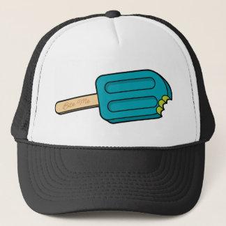 青いラズベリーのアイスキャンデーは私を帽子かみます(白か黒) キャップ