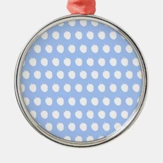 青いラズベリーの点 メタルオーナメント