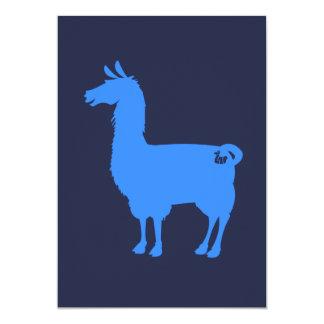 青いラマの招待状 カード