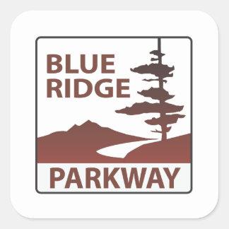 青いリッジのパークウェイのハイウェーの遠征 スクエアシール