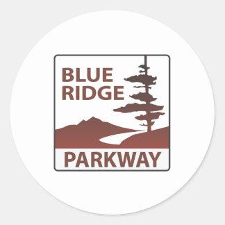 青いリッジのパークウェイのハイウェーの遠征 ラウンドシール