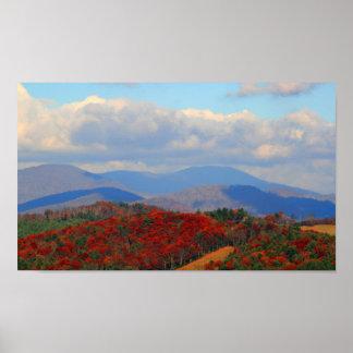 青いリッジの秋、ノースカロライナ ポスター