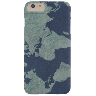 青いリネン世界地図 BARELY THERE iPhone 6 PLUS ケース