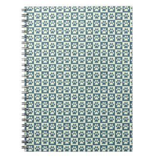 青いレジ係の足パターン ノートブック
